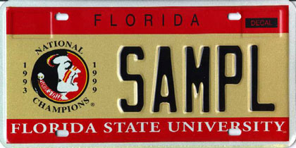 florida_state_universitylicenseplate image